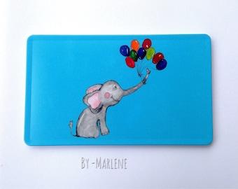 Breakfast Board blue elephant