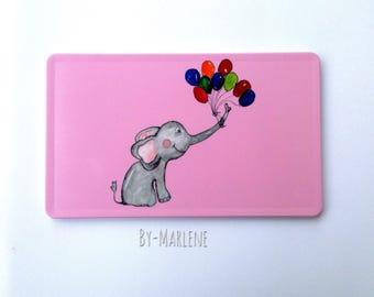 Breakfast Board Elephant Pink