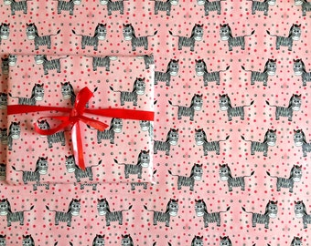 Wrapping paper Zebra 42 x 59 cm