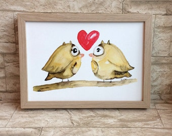 Nursery picture owls