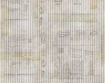 Free Spirit Materialize by Tim Holtz PWTH072 Multi Apothicary  Cotton Fabric