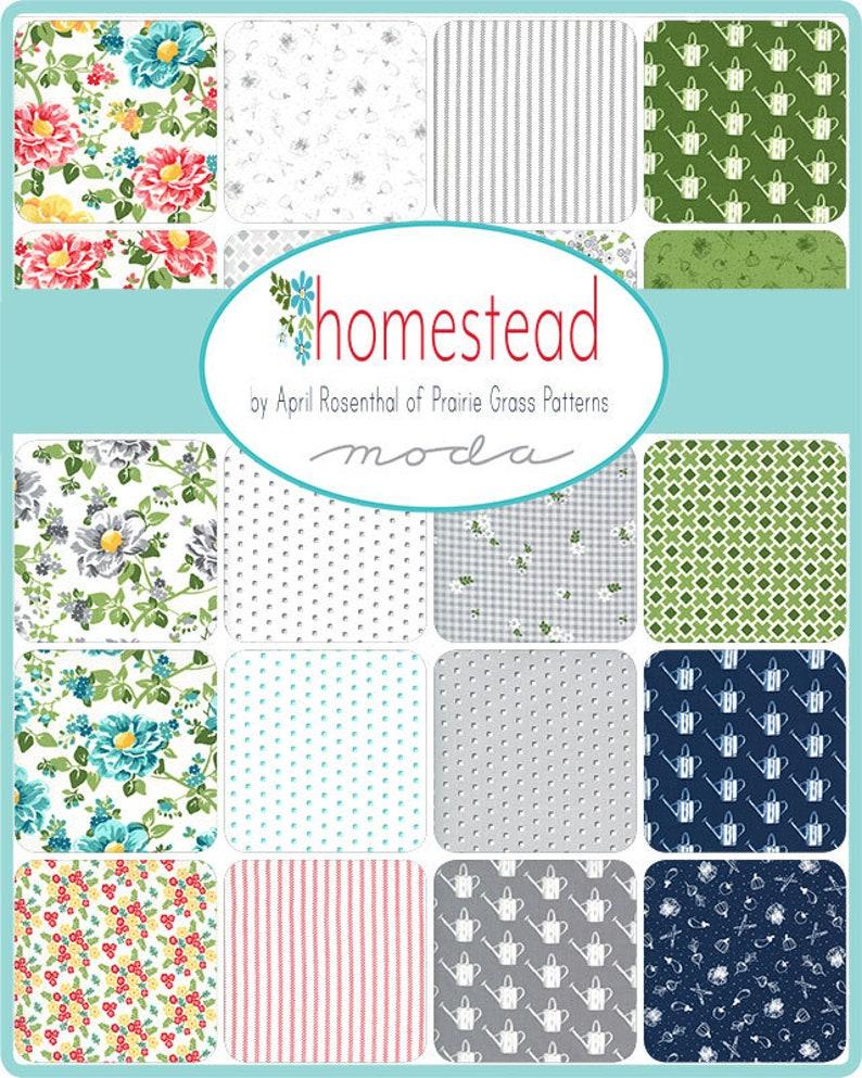 Homestead Jelly Roll Precut 40 2.5 x 44 Designed by April Rosenthal Prairie Grass Patterns for Moda Fabrics 100/% Cotton #24090JR