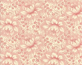 Farmhouse Reds Ivory Red Floral by Minick and Simpson for Moda Fabrics #14850 13 100% Cotton