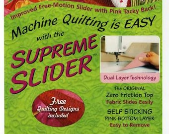 Supreme Slider by Pat LaPierre~ Free-Motion Slider with Pink Tacky Back~ Dual Layer Technology~ Friction Top~Self Sticking Bottom Layer
