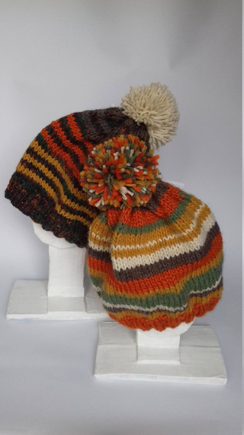 642c9d2cd80 DISCOUNT 20% for 2 Hand Knitted Pom Pom Winter Hats Nice and