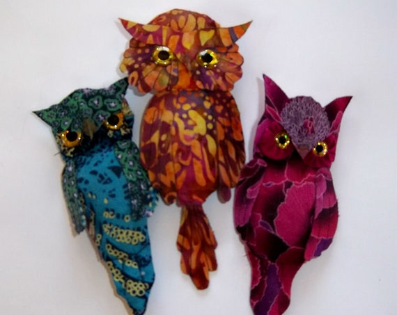 "LL521E - GIVE A HOOT, 5"" Pin Owl  Cloth Bird Doll Pattern - PDF Download Doll Making Sewing Pattern by Laura Lunsford"