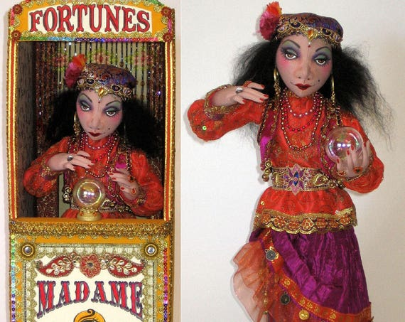 AB512E - Madame Rosa, Fortune Teller & Booth Cloth Doll Pattern