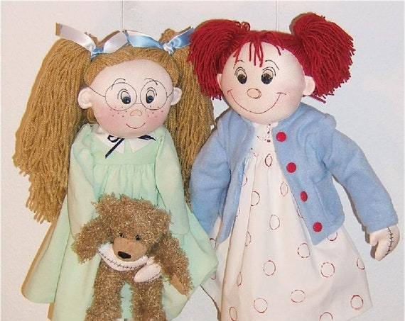 """Violet Pickles and Ruby Buttons -  18"""" - 21"""" Classic Baby Doll Sewing Pattern – PDF Download Doll Making Pattern - Design by Judi Ward"""