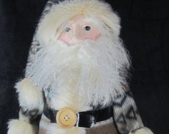 "BS342E -Woodlands Santa, 26"" Cloth Doll Pattern -  PDF Download Sewing Pattern by Barbara Schoenoff"