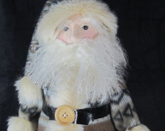 "BS342E -Woodlands Santa, 26"" Cloth Doll Pattern -  PDF Download Sewing Pattern by Barbara Schoenoff"