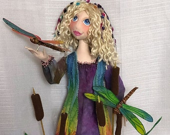 """New!  """"Wonder"""", a 16 inch Cloth Art Doll Pattern and Tutorial by Nancy Hall.  PDF Instant Download – Start Sewing Today! - NH709E"""
