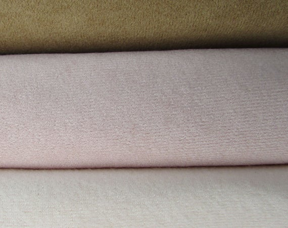 Deer Suede - Calf Skin, Doll Face Pink and Chamois - Doll Making Fabric, 1 yard