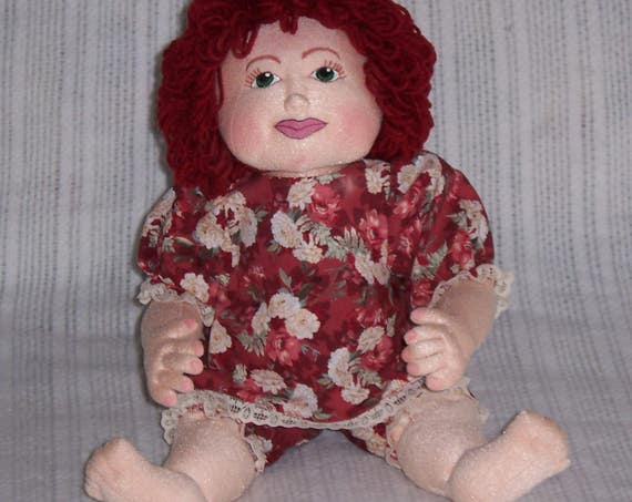 "KB101E – Kelsi, 18"" Toddler Cloth Doll Pattern"