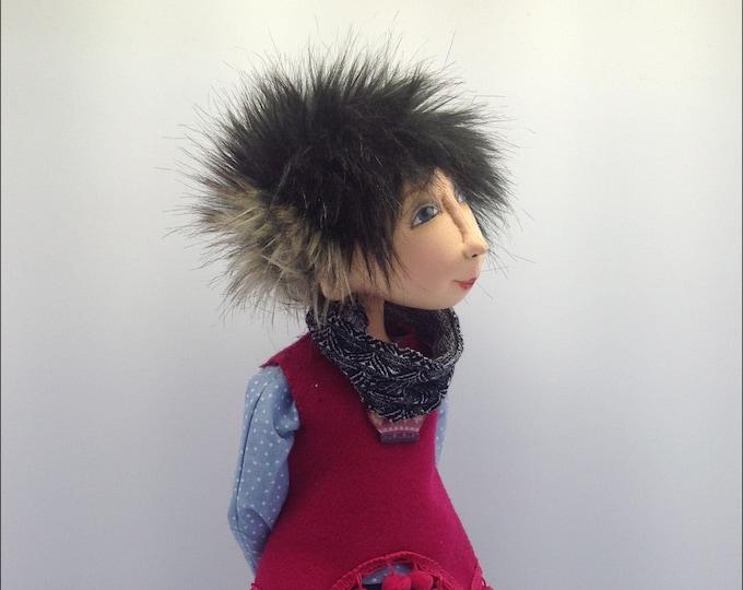 "JM962E - Ettie,  17"" PDF Cloth Art Doll Making Sewing Pattern"