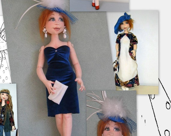 "SM901E - Krista - A Basic 20"" Fashion Doll PDF Download Cloth Doll Pattern by Sharon Mitchell - Pattern updated 2019!"