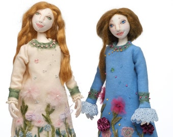 """New!  Winter Dreams,  Beautiful PDF 18"""" Cloth Doll Making Sewing Pattern by Kimberly McDermott - Download and Start Sewing Today!"""
