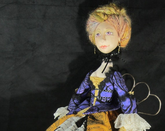 BS341E - Lady Elspeth, Witch Cloth Doll Pattern -  PDF Download Sewing Pattern by Barbara Schoenoff