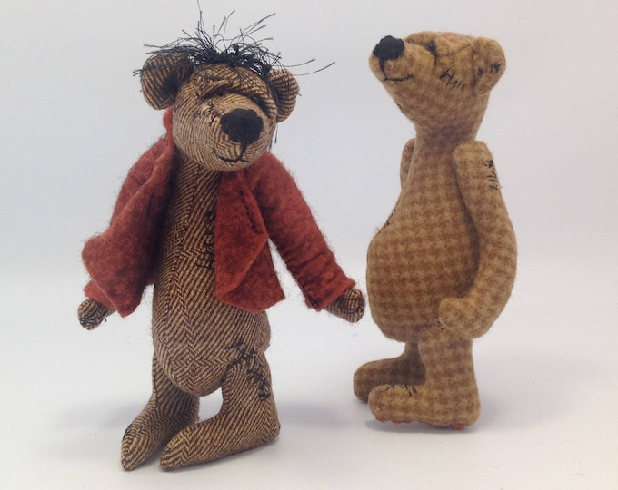JM960E - Flash Bears  ,  PDF Cloth Animal/Bear Doll Making Sewing Pattern