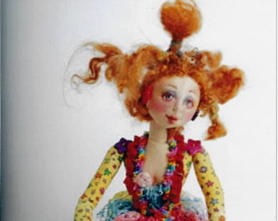 "PC351E - Radical Rachel, 18"" Cloth Doll Sewing Pattern by Patti Medaris Culea - PDF Download E-Pattern"