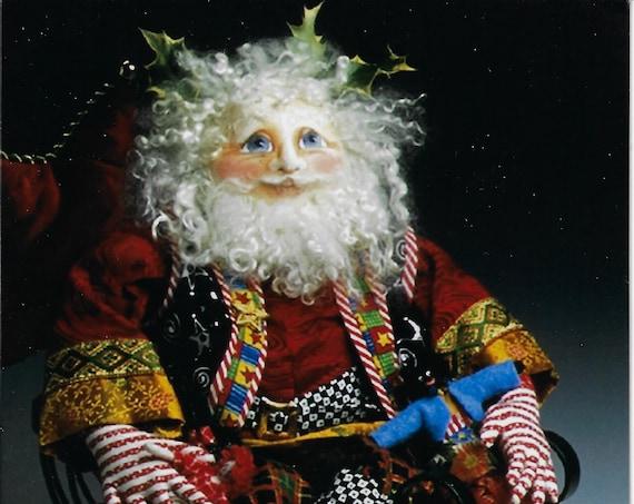 "PC358E - Very Merry Santa, 20"" Cloth Doll Santa Sewing Pattern by Patti Medaris Culea - PDF Download E-Pattern"