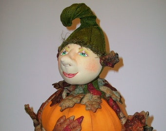 """Punkin Patch - 12"""" Tall Cloth Wall Doll Sewing Pattern by Cyndy Sieving - PDF Instant Download – Start Sewing Today!"""