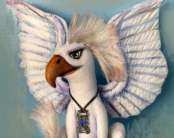 """Griffin, 11"""" X 14"""" Painted Fabric Doll Pattern  -  A Mythical Creature PDF Instant Download Pattern by Susan Barmore"""
