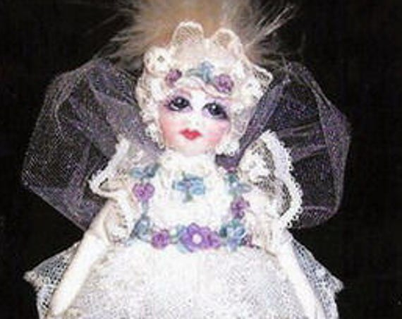 CE709E – Little Victoria, the dream fairy Cloth Doll Pattern