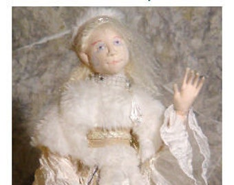 BS315E - Ari Briavel of Winter Wild Woods - Elf-ling Cloth Doll Pattern -  Elf PDF Download Sewing Pattern by Barbara Schoenoff