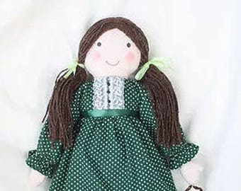 """RC607E – """"Lucy"""" Cloth Doll Sewing Pattern – PDF Download Doll Making Pattern"""
