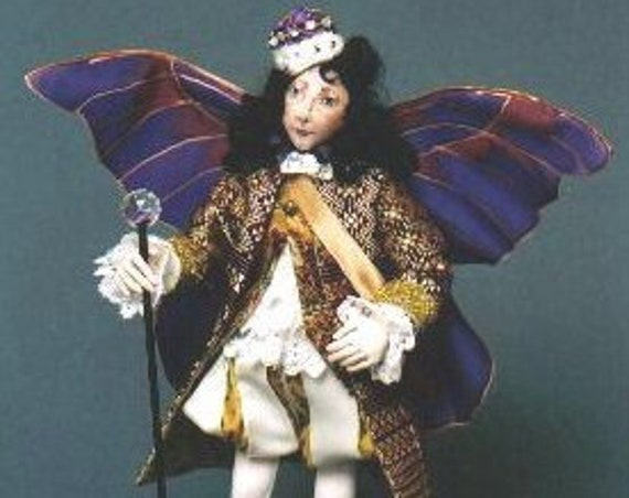 """SR809E - Oberon -  13"""" Male Fairy Cloth Doll Making Sewing Pattern by Suzette Rugolo, PDF Download"""