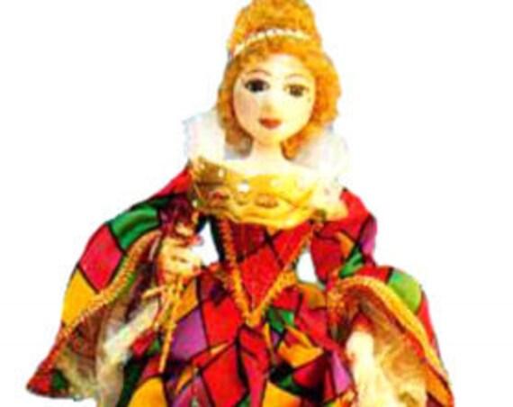 MM207E -  ARLECCHINA-  Cloth Doll Making Pattern, PDF Download Sewing Pattern