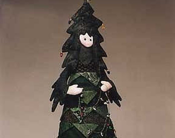 """Oh Tannenbaum -  23"""" Fabric Christmas Tree Pattern - PDF Download Cloth Doll Pattern by  Julie McCollough of Magic Threads"""