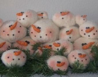 RP220E - Snowball Gathering, Snowman PDF Download Cloth Doll Pattern by Michelle Allen of Raggedy Pants Designs