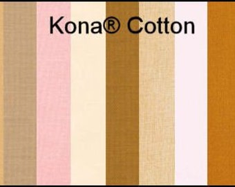 Doll Making Body and Skin Fabric - 100% cotton - Kona Cotton Fabric Solid Colors by Robert Kaufman - 1 Yard - Quality Woven Sewing Fabric
