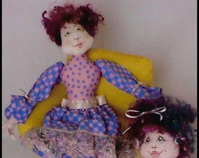 KK792E – Mom & Olivia - Cloth Doll Making Sewing Pattern, PDF Download
