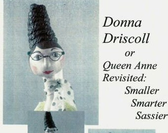 """BS334E - Donna Driscoll - 17"""" Soft Sculpture Cloth Art Doll Pattern -  PDF Download Sewing Pattern by Barbara Schoenoff"""
