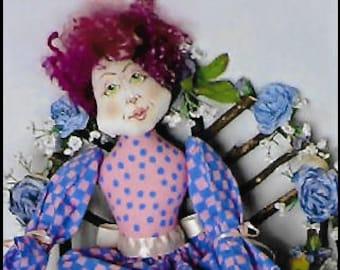 KK793E – Mom - Cloth Doll Making Sewing Pattern, PDF Download