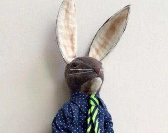 JX912E – Harrold Hare - PDF Cloth Animal Doll Sewing Pattern