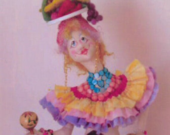 KK782E – HOLLY PENA - Cloth Doll Making Sewing Pattern, PDF Download