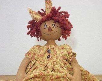 "RP327E - Rose Annie, 15"" PDF Download Raggedy Ann Cloth Doll Pattern by Michelle Allen of Raggedy Pants Designs"
