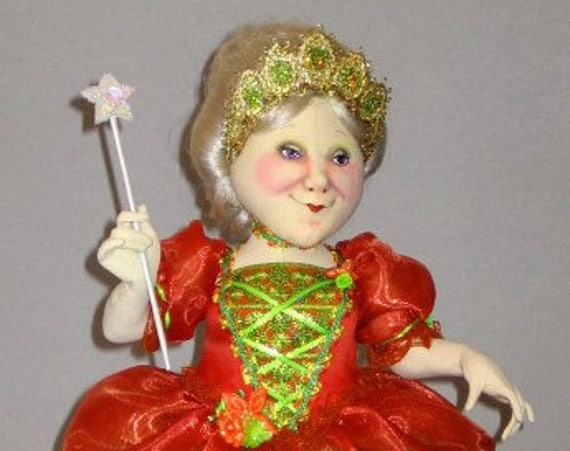 AB511E - Fairy Godmother -  PDF, Cloth Doll Making Sewing Pattern