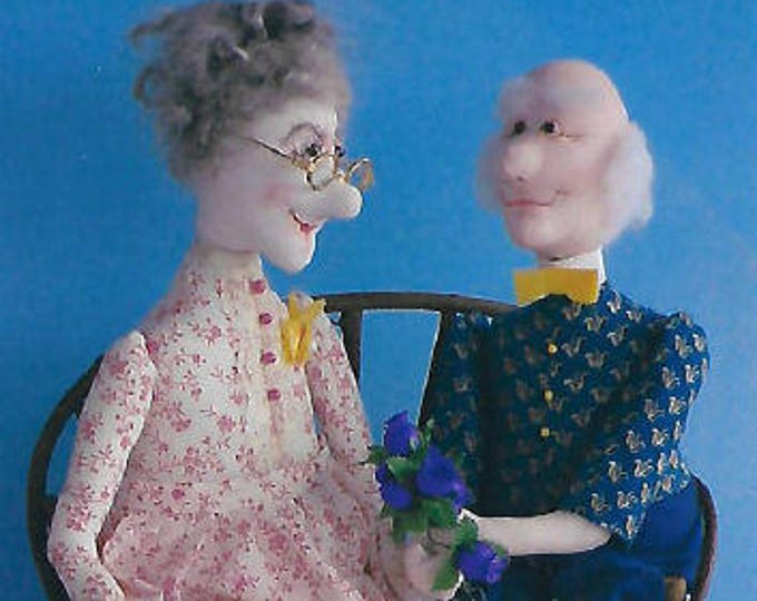 KK713E – Tille & Tom - The Two Of Us  - Cloth Doll Making Sewing Pattern, PDF Download