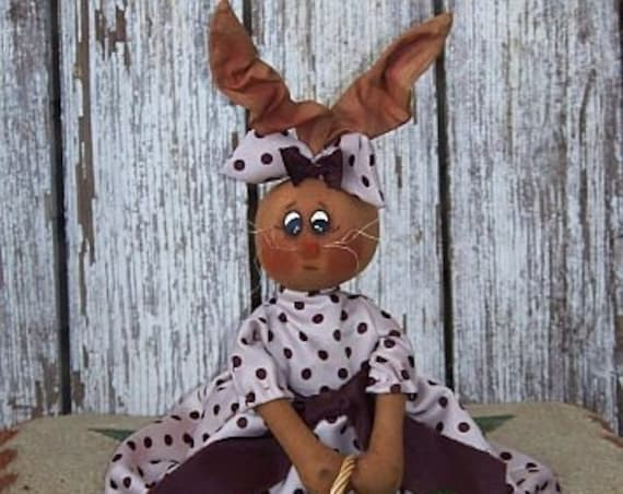 """RP331E - Bailey Bunny - 17"""" Bunny PDF Download Cloth Doll Pattern by Michelle Allen of Raggedy Pants Designs"""