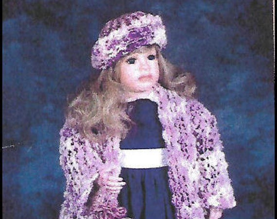 KK786E – Loom Knitting, Child or Doll Coat - Includes Hat and Purse, PDF Tutorial Download