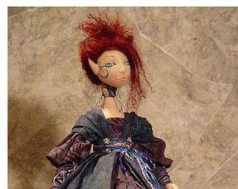 BS312E - Shar Lillia of Sylvan Shadows - Elf-ling Cloth Doll Pattern -  PDF Download Sewing Pattern by Barbara Schoenoff