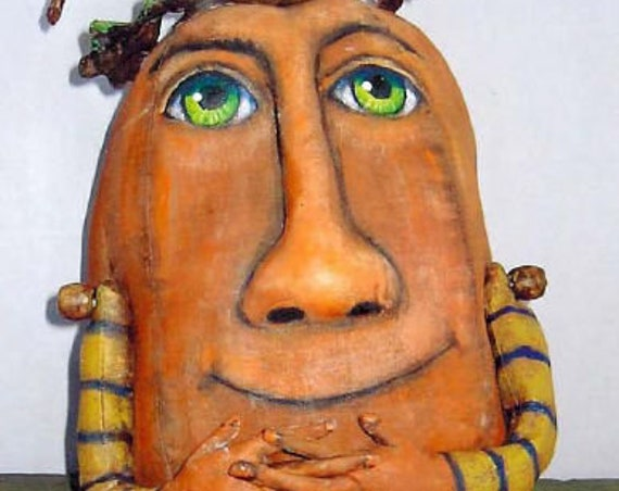 "SE800 - Ivan,  7"" Pumpkin Art Doll Pattern,  Sewing Cloth Doll Pattern - PDF Download by Susan Barmore"