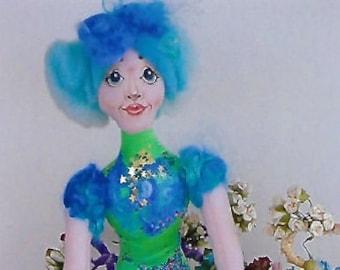 KK797E – Paradise Fairy  - Cloth Doll Making Sewing Pattern, PDF Download