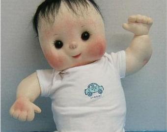 "Judi Ward Original Design - Bare Baby ~ 20"" Cloth Baby Doll Making E-Pattern  - Download Sewing Pattern"
