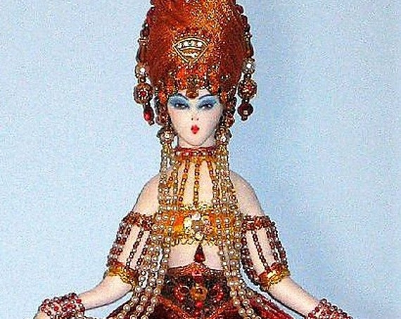 "AB503E -Art Deco Tassel Doll, 13"" Hanging Cloth Doll Pattern - PDF Download"