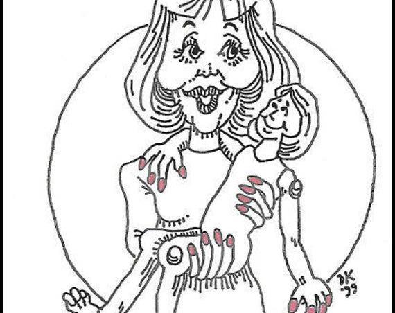 KK788E – Making Doll Fingernails - Cloth Doll Tutorial, PDF Download